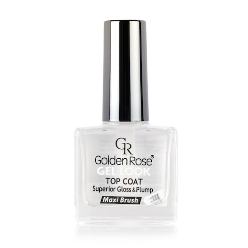 Golden Rose Top Coat Gel Look